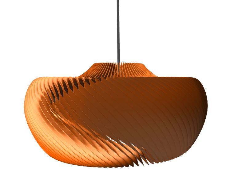 Parametric moire lamp - a 3D model created with VECTARY - the free online 3D modeling tool #3Dprinting