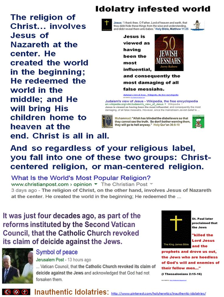 """Sectarian Dogmas - Trinity, Shirk, Hell: """"Regardless of your religious label, you fall into one of these two groups: Christ-centered religion, or man-centered religion."""" -DAN DELZELL, pastor of Lutheran Church in Neb. https://www.pinterest.com/pin/540924605220333808/ Holocaust Haggadah: Deicide! https://www.pinterest.com/pin/540924605220319207/ https://www.pinterest.com/pin/540924605220307769/ """"Religious Liberty Is Not Freedom from Ridicule."""" https://www.pinterest.com/pin/329466528966577655/"""