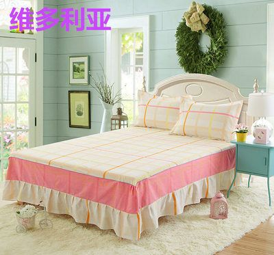 hot sale beige wrap around elastic ruffles style bed skirt for king