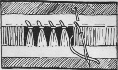 Drawn-thread work used for hemstitching linens - this site has a Hemstitching Tutorial.