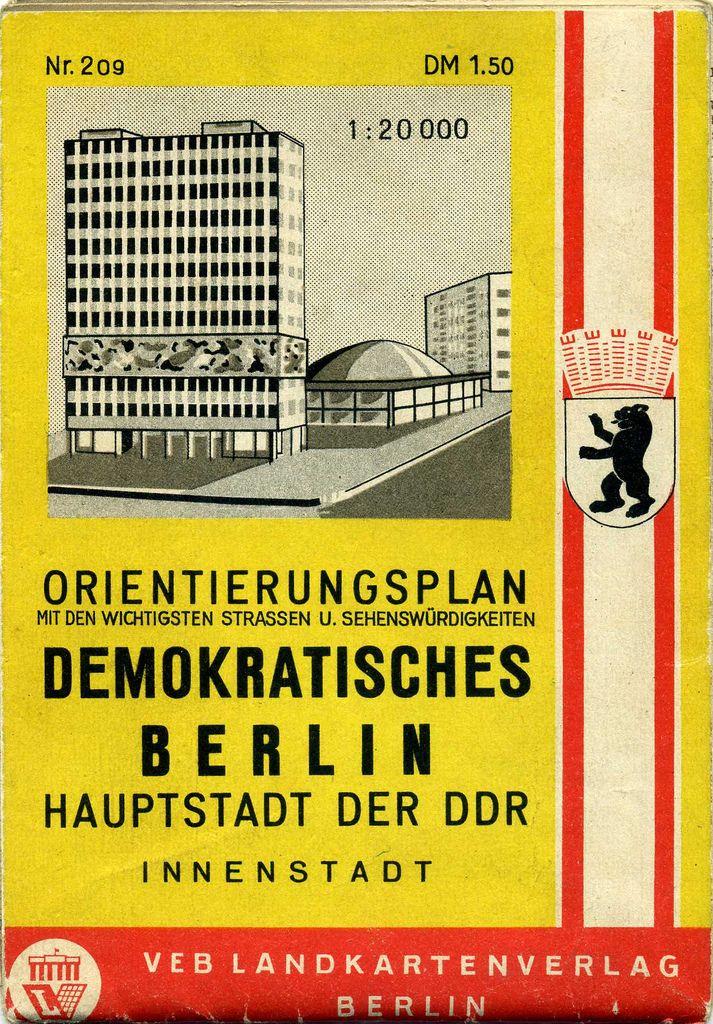Berlin | DDR. Orientierungsplan - Demokratisches Berlin. DDR Hauptstadt. 1964