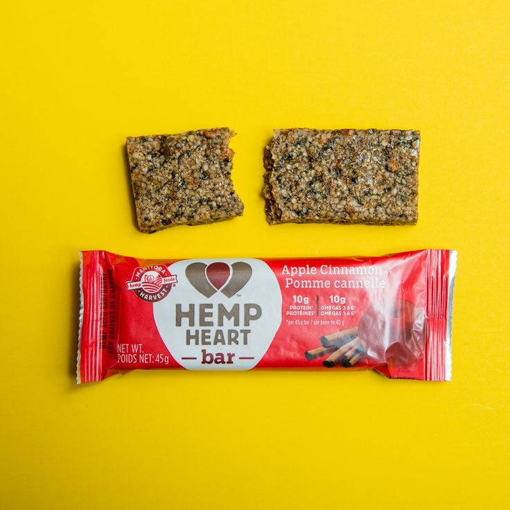 Manitoba Harvest Hemp Foods is the largest vertically-integrated hemp food manufacturer in the world. These versatile products can be used in everything from baking, salads, smoothies, and virtually every  meal from day to night. These apple cinnamon 45 gram bars each contain 10 grams of plant-based protein and 10 grams of omegas, so whether you grab one for a pre-workout snack or nutrition on the go, these convenient bars are sure to get you through even your busiest day!