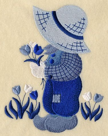 ** Little Dutch Boy Fisherman Fred Block Of The Month Pattern Used As Applique Quilt @emlibrary