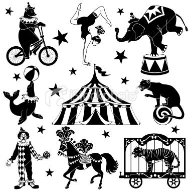 silhouette clip art circus tent - Bing Images