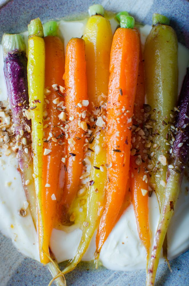 Brown butter heirloom carrots with a tangy yoghurt dressing   merci mama