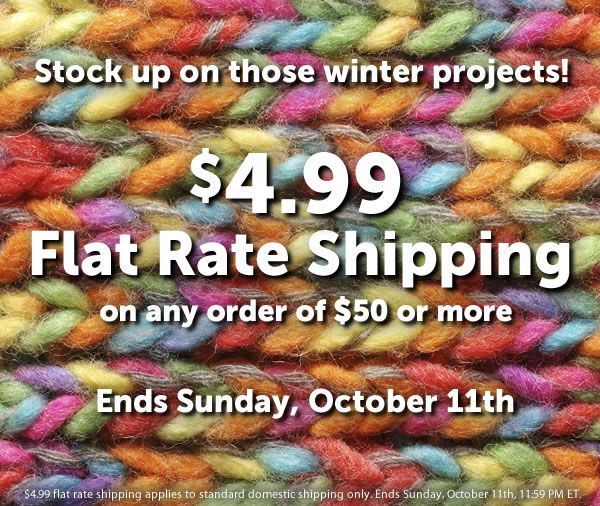 $4.99 Flat Rate Shipping