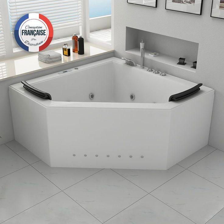 Baignoire Balnéothérapie d'angle pour votre salle de bain Duo
