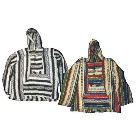 Multicolored Indian Baja Hoodie Jacket