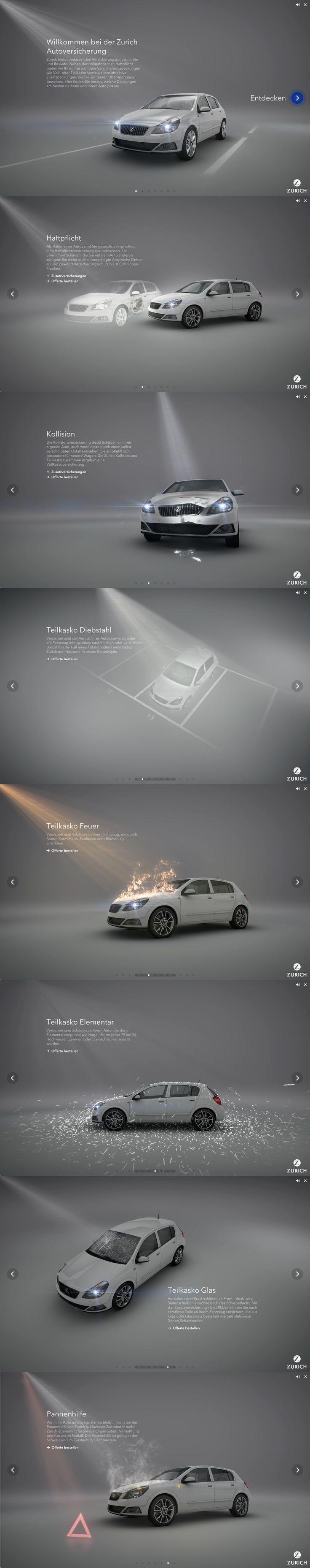 Online-Clips Zurich Autoversicherung  #webdesign #hinderlingvolkart #design #indentity #ux #ui