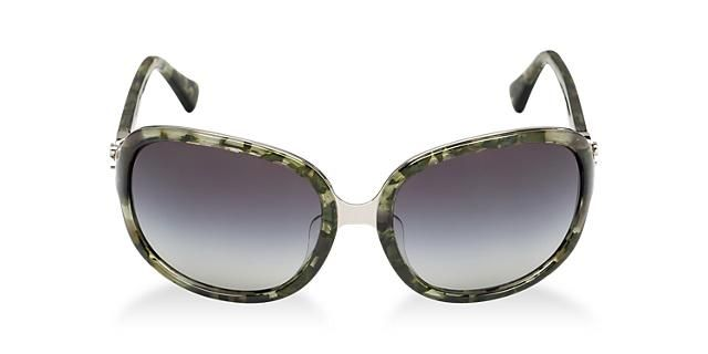 Product Description frame's temple tip. Each Coach sunglass style features a logo treatment.