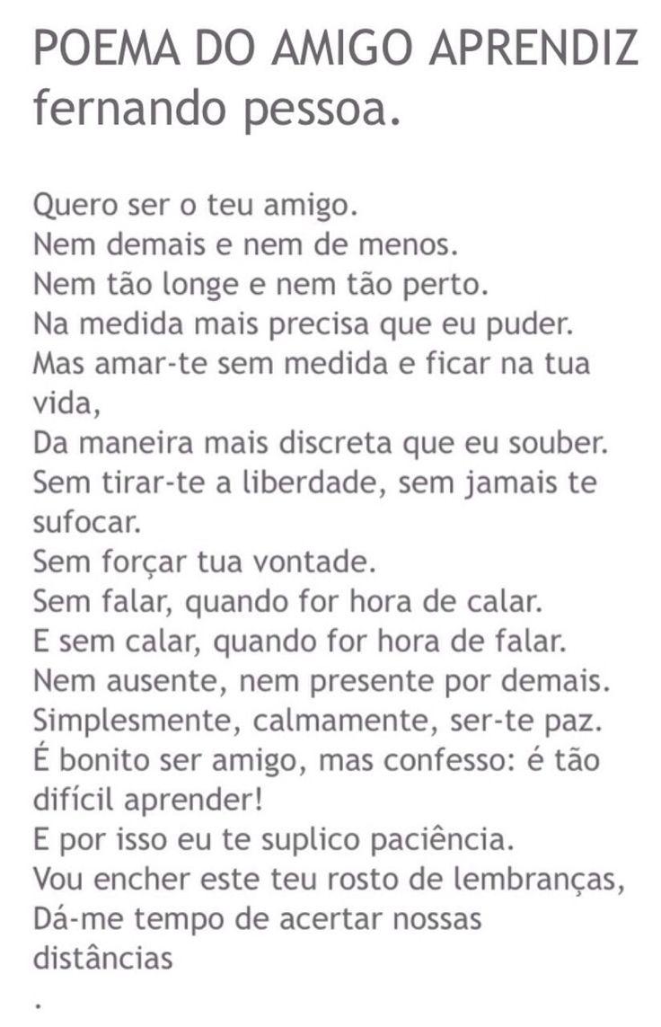 Poema do Amigo Aprendiz. Fernando Pessoa.