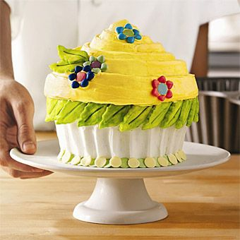 "Giant Yellow Cupcake Wedding Cake. ""Cupcake"" Cake"