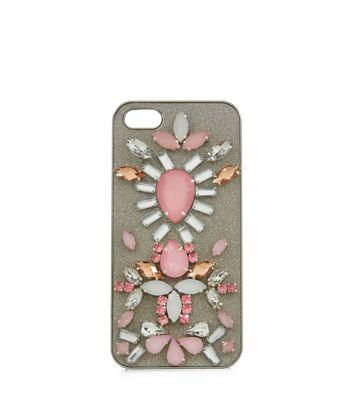 New Look Pink Jewel Embellished iPhone 5 Case #technology #covetme
