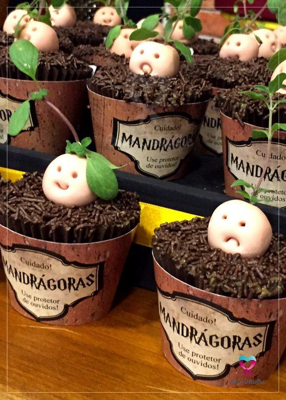Saias para cupcakes, ideal para decorar sua festa e deixá-la ainda mais original. Proteja suas mandrágoras!    Tema Harry Potter