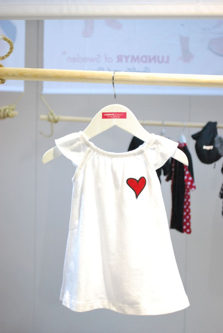 Cutiest linen white dress with a red heart patch for baby girls. Size 0-2 years.