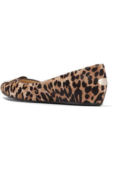 Jimmy Choo - Wray Leopard-print Calf Hair Ballet Flats - Leopard print - IT38.5