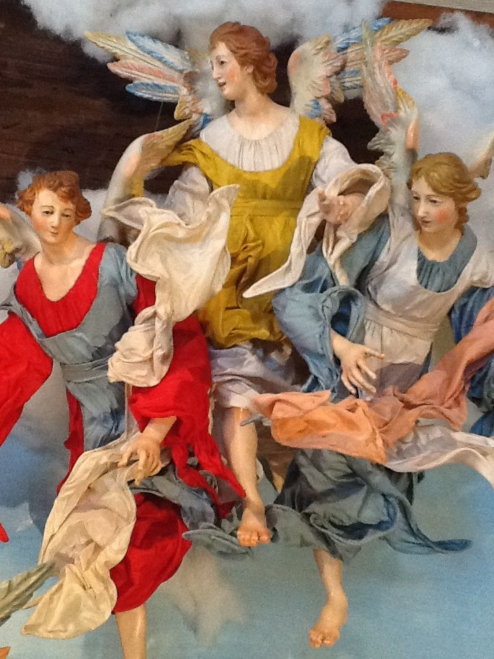 Angels flying hi from my own personal presepe figures by Alfredo Molli