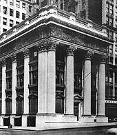 Panic of 1907 - Headquarters of the Knickerbocker Trust Company.