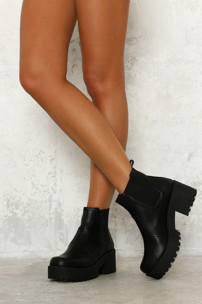 LIPSTIK Eamon Boot Black   Boots, Black