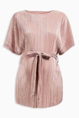 Buy Pink Maternity Tie Pleat Top online today at Next: New Zealand