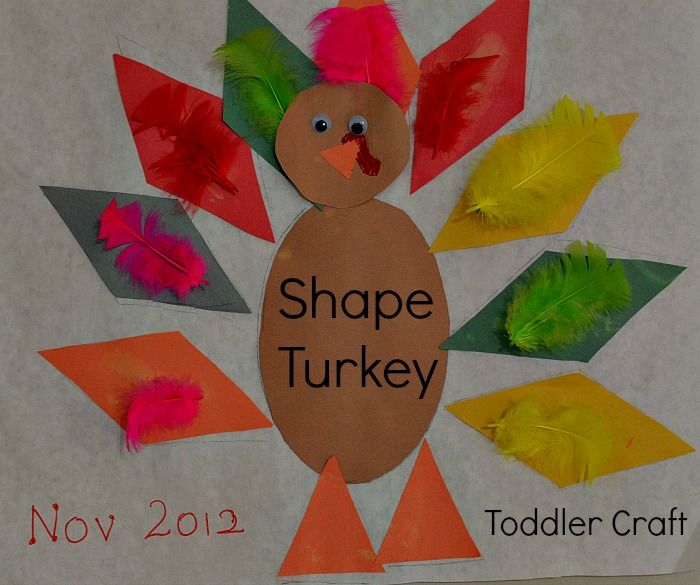 Thanksgiving Crafts For Kids Turkey Shapes Craft