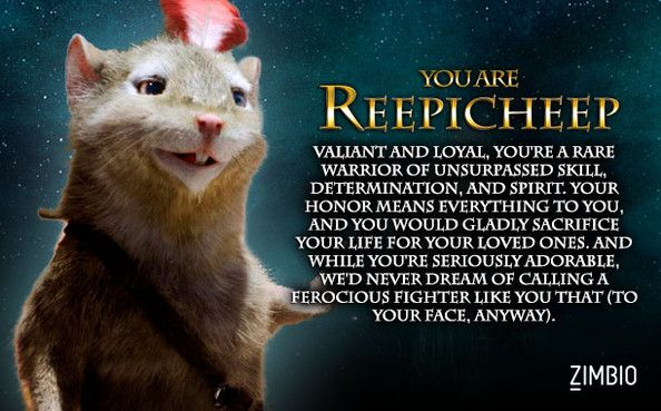 I took Zimbio's 'Chronicles of Narnia' quiz, and I'm Reepicheep! Who are you?