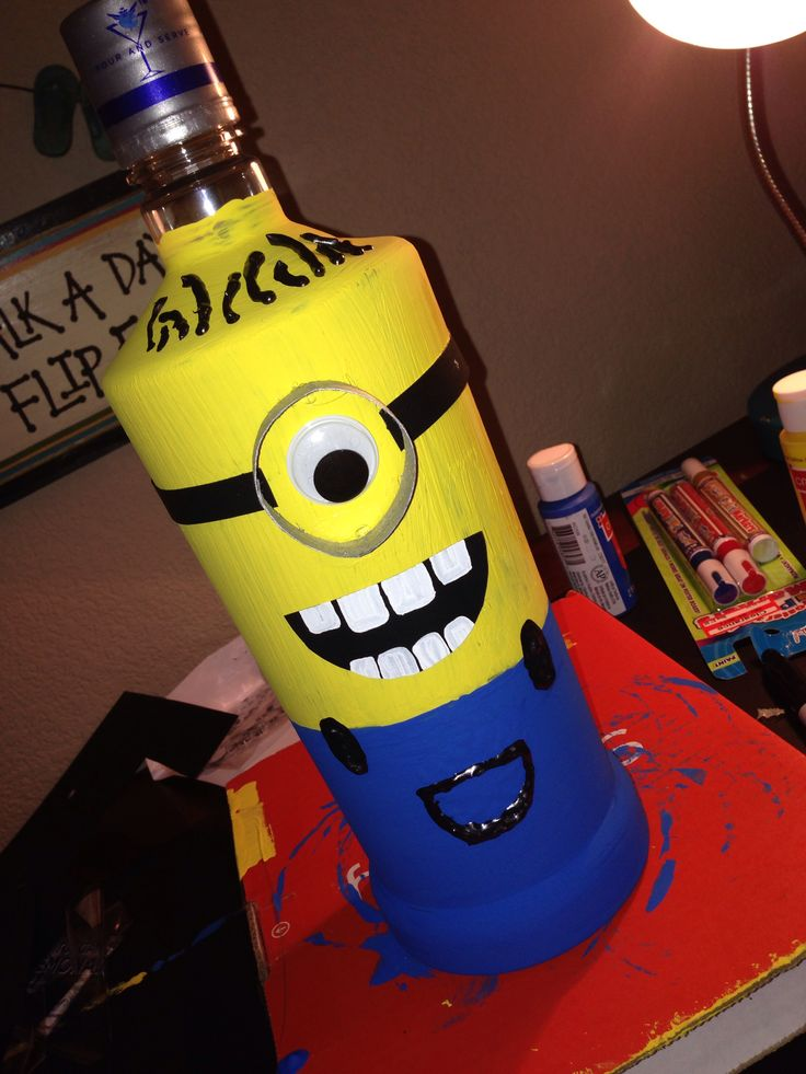 Minion Alcohol Bottle For Gloria S Birthday My Crafts