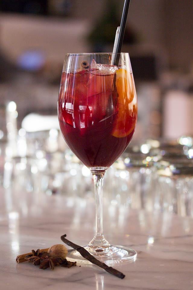 Mulling Over Sangria - mulled wine, dubonnet, triple sec, apple juice and ginger beer — at Luma. #Toronto #restaurant #cocktails #food
