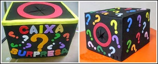 caixa surpresa de natal