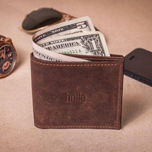 Pánská kožená peněženka - hnědá