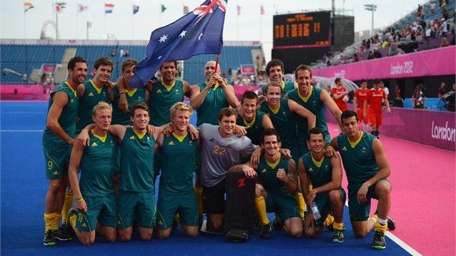 Day 15 - The Kookaburra's Australian Men's Hockey team won bronze after defeating Great Britain 3-1 in the playoff. Germany won the gold medal after defeating the Netherlands 2-1. Photos - Olympic Hockey | London 2012 Olympics