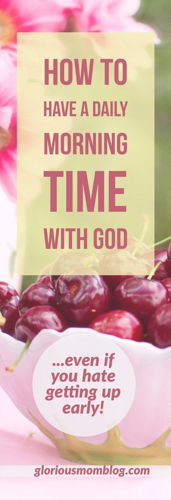 How a morning devotional time changed my life: discover how this non-morning person found rejuvenation in a daily quiet time with God - in the morning! Read about it at gloriousmomblog.com.
