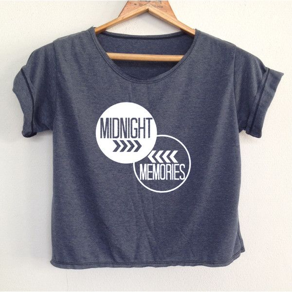 Crop One Direction Shirt Midnight Memorie Lyrics 1d Crop Women's... ($13) ❤ liked on Polyvore