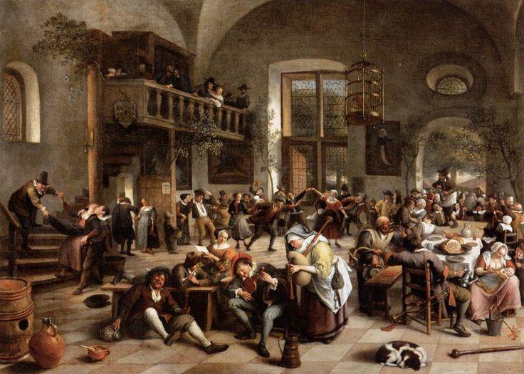 16th century spanish paintings | Revelry at an Inn