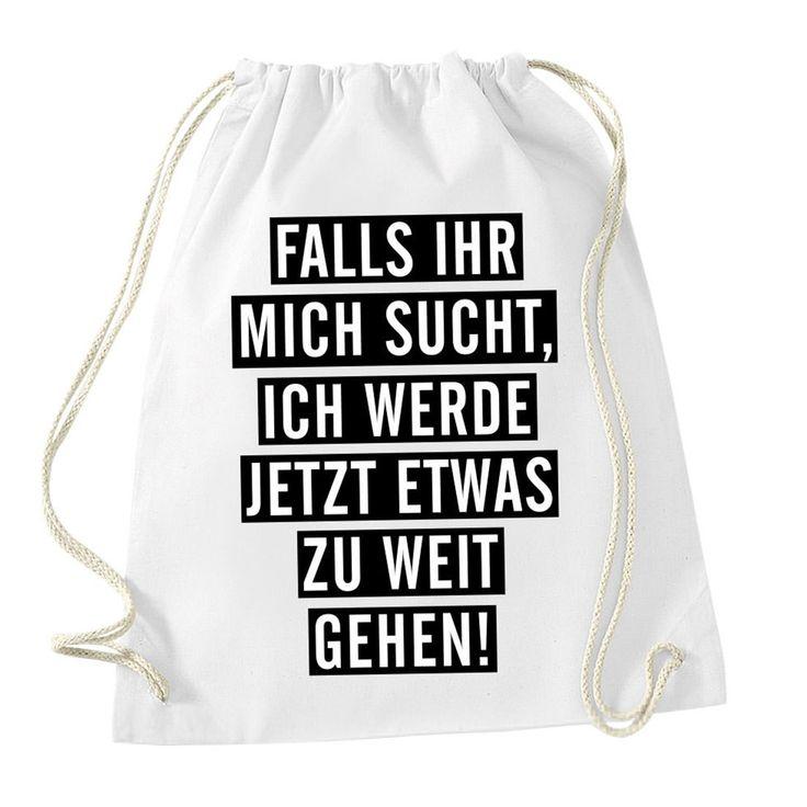 HASHTAGSTUFF Turnbeutel mit Spruch / verschiedene Sprüche & Designs auswählbar / Beutel: Weiß / Rucksack / Jutebeutel: Amazon.de: Koffer, Rucksäcke & Taschen