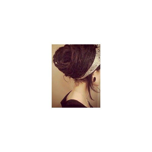 Fryzury  Brązowe włosy: Fryzury Długie Alternatywne Dredy Brązowe -... ❤ liked on Polyvore featuring dread