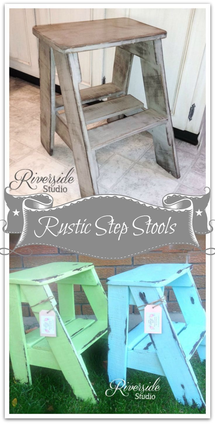 Step Stool *Pick Your Colour* Rustic Shabby Chic Furniture / Bedroom Side Table / Cottage Farmhouse Rustic Step Ladder #rusticshabbychicfurniture #shabbychicbedroomsrustic #shabbychicfurniturebedroom
