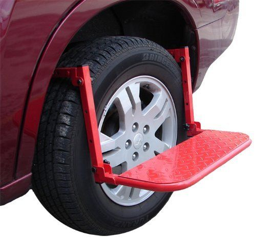 Malone Universal Fit Easy Reach Wheel Step by Malone. $53.99. The Malone Wheel Step provides easy access to the roof of your vehicle when tying down your boat or any type of load.  Great for large SUV's where roof access is difficult.  The adjustable settings fit almost any vehicle.. Save 10% Off!