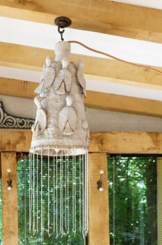 """This funny fabric lamp is from our feature """"Summer Hideaway"""""""