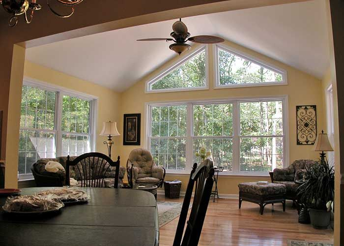 Sunroom Additions Sunroom Addition With Dreamglass Trapezoid Windows Allows You To Enjoy