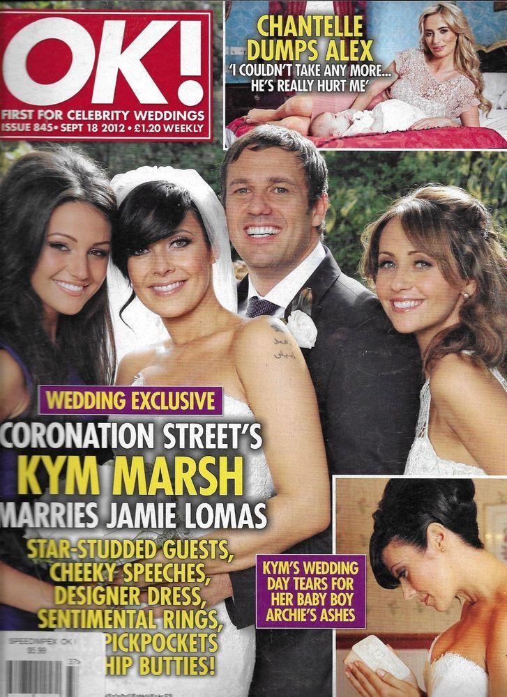 Ok Magazine Kym Marsh Jamie Lomas Wedding Katie Holmes Chantelle Houghton