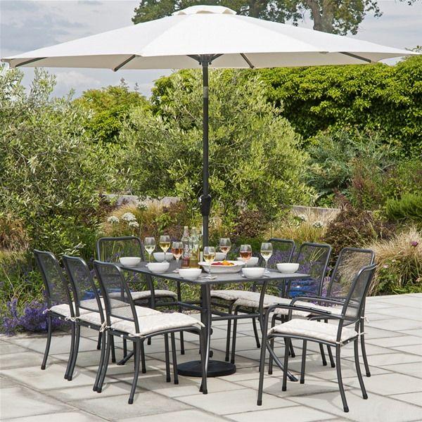alexander rose portofino 8 seater metal garden furniture set - Garden Furniture 8