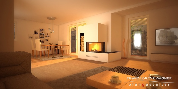 Fireplace with  Spartherm Varia 2R51h