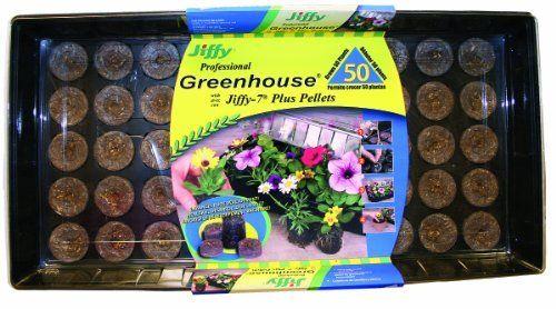Jiffy 5218 Professional Greenhouse 50-Plant Starter Kit With J7 Plus Plant Starters by Jiffy. $21.50. Greenhouse Gardening. Indoor Gardening. Jiffy Greenhouse with 50-Jiffy 7 Plus Plants. Save 14% Off!