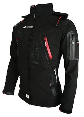 GEOGRAPHICAL NORWAY-giacca softshell giacca funzione resistente all' acqua Black - Black Small