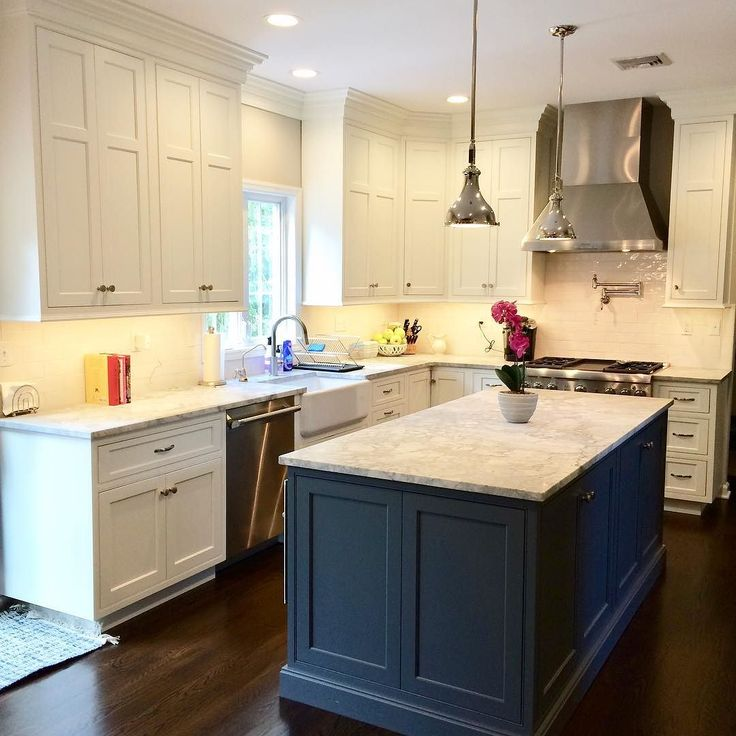 Felling the Blue Custom flush beaded inset cabinetry with ...