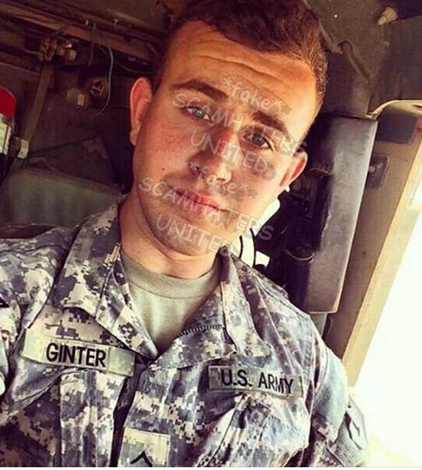 JOHN GINTER, FAKE U.S. Army HAS BEEN OTHER GINTER NAMES.. ALL SCAMMING PROFILES.  https://www.facebook.com/WARNINGANDSUPPORT/posts/612946018892779
