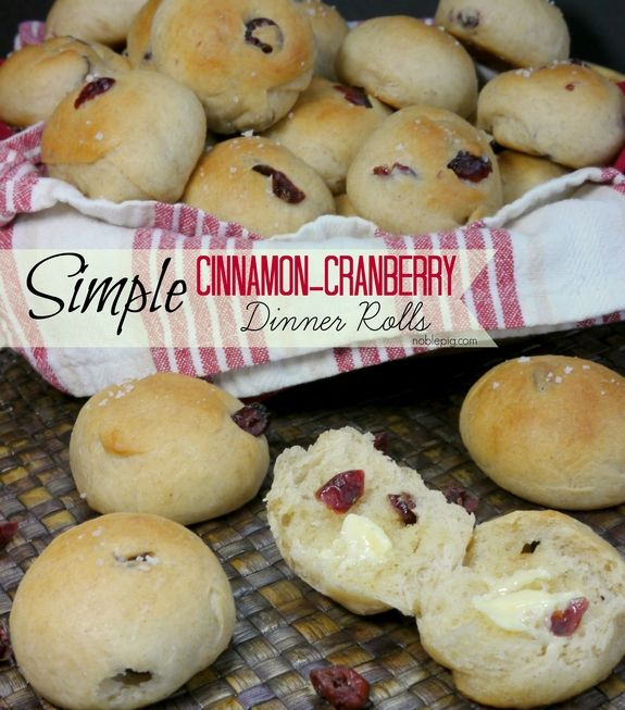 Simple Cinnamon Cranberry Dinner Rolls perfect for Thanksgiving: Side