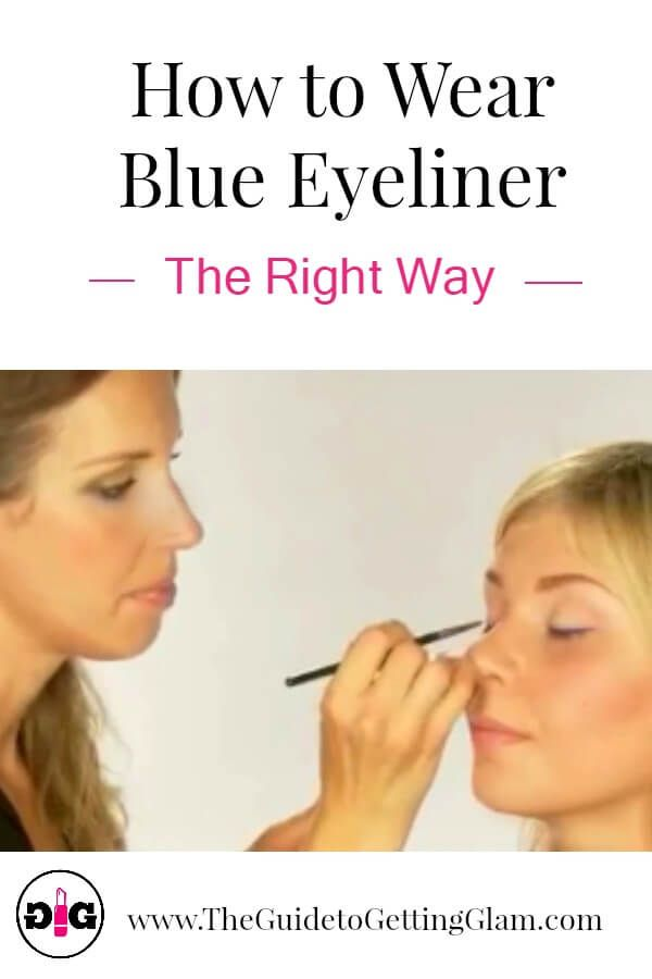 Want to know how to wear blue eyeliner? Watch this tutorial and learn makeup artist tips to wear blue eyeliner the right way. #makeup #makeuptip #makeuptutorial #eyeliner #blueeyeliner #glam #theguidetogettingglam