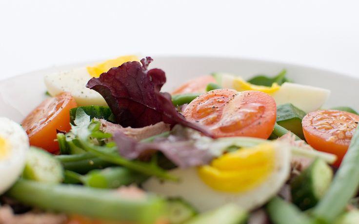 Zalmsalade. Een heerlijk recept, gevonden op www.visopzijnbest.nl